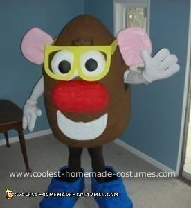 Homemade Mister Potato Head Costume
