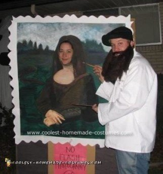 Homemade Mona Lisa and Leonardo Costume