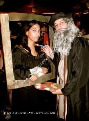 Mona Lisa and Leonardo Da Vinci Halloween Couple Costume Idea