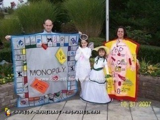 Homemade Monopoly and Operation Gameboard Costumes