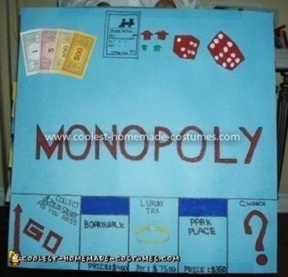 Coolest Monopoly Board Game Costume - Back of Costume