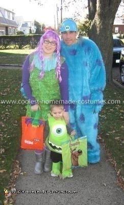 Homemade Monsters Inc. Family Costume