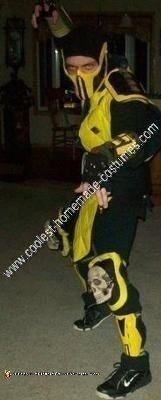 coolest mortal kombat scorpion diy halloween costume idea