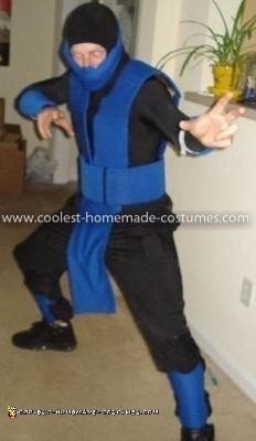 Homemade Mortal Kombat Sub Zero Costume