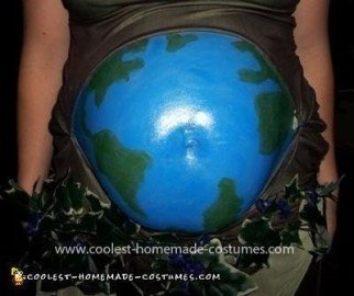 Homemade Mother Earth and Father Time Pregnant Couple Costume