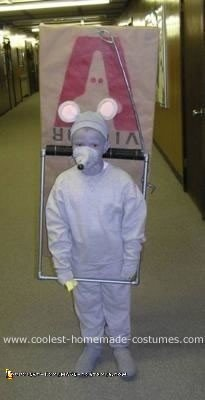 Homemade Mouse Caught in a Trap Costume