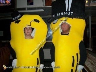 Mr. and Mrs. Peanut DIY Couple Costume