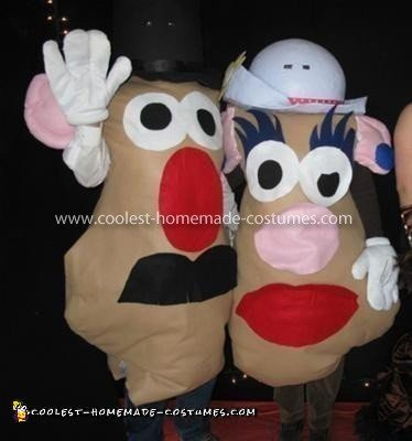 Homemade Mr. and Mrs. Potato Head Costumes