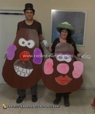 Homemade Mr. and Mrs. Potato Head Couple Costumes
