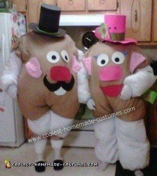 Mr and Mrs Potato Head Couple DIY Halloween Costume