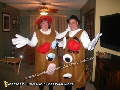 Coolest Mr And Mrs Potato Head Diy Halloween Costume