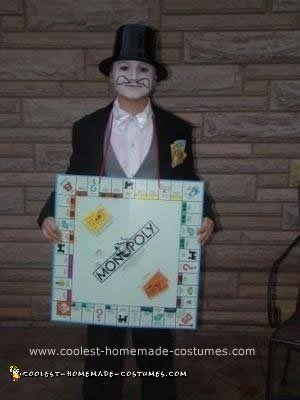 Homemade Mr. Monopoly Costume