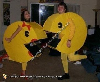 Mr. & Mrs. Pac Man DIY Halloween Couple Costume