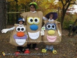 Homemade Mr. Potato Head Family Costume