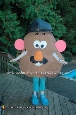 Homemade Mr. Potato Head Halloween Costume