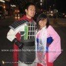 Homemade Mulan and Shang Costumes
