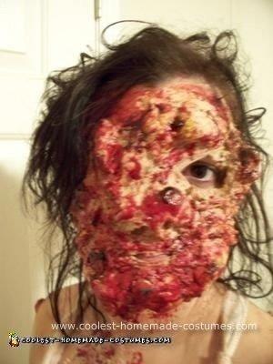 Homemade Mutated Cannibal Unique Halloween Costume Idea