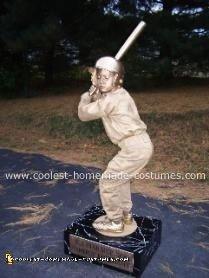 Homemade MVP Baseball Trophy Halloween Costume
