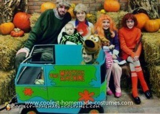 Homemade Mystery Machine Costume
