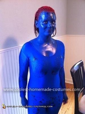 Homemade Mystique Halloween Costume