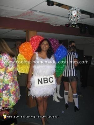 Homemade NBC Peacock Costume