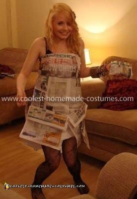 Coolest Newspaper Dress Costume
