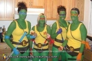 Ninja Turtle DIY Group Halloween Costume Idea
