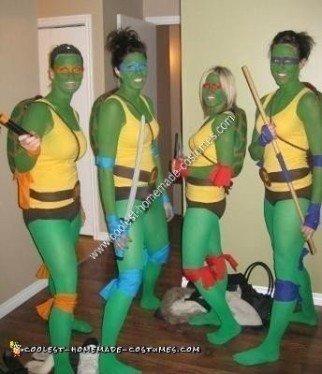 Ninja Turtle DIY Group Halloween Costume Idea