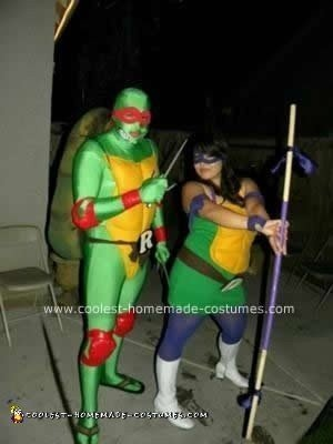 Homemade Ninja Turtles DIY Couple Costume