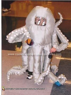 Homemade Octopus Baby Costume