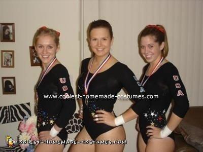 Homemade Olympic Gymnastics Team Costume