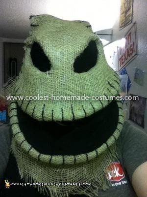Coolest Oogie Boogie Costume - head (pre-body)