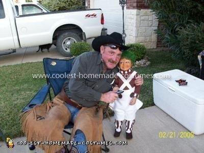Homemade Oompa Loompa Child Costume