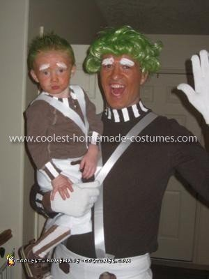 Homemade Oompa Loompa Family Costume