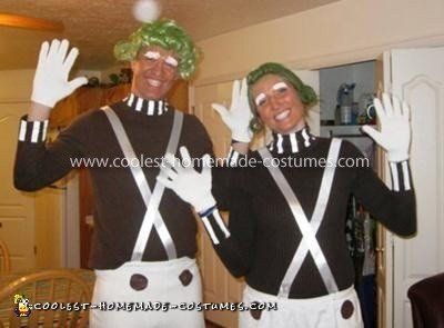 Homemade Oompa Loompa Family Costume