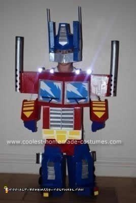 Homemade Optimus Prime Child Costume