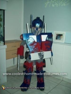 Homemade Optimus Prime Costume