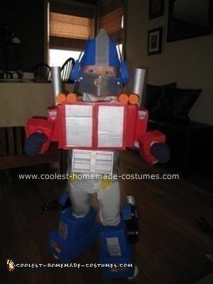 Homemade Optimus Prime Halloween Costume