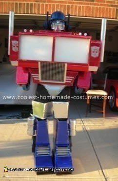 Optimus Prime the Cartoon Version Homemade Costume