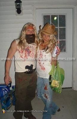 Homemade Otis Driftwood and Baby Couple Costume from The Devil's Rejects