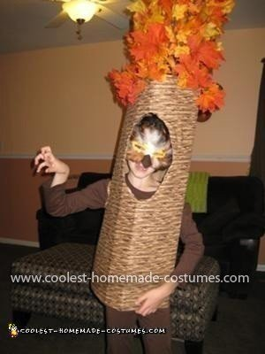 Homemade Owl in a Tree Costume
