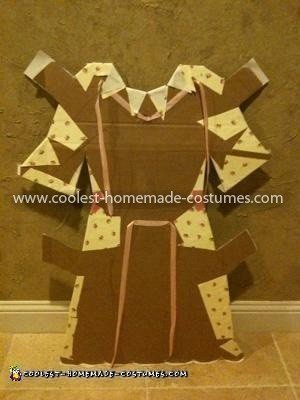 Coolest Paper Doll Costume - back of dress (looks terrible but you get the idea)!
