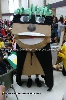 Homemade Paper Puppet Costume