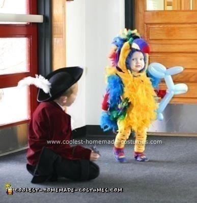 Homemade Parrot Bird Costume Design