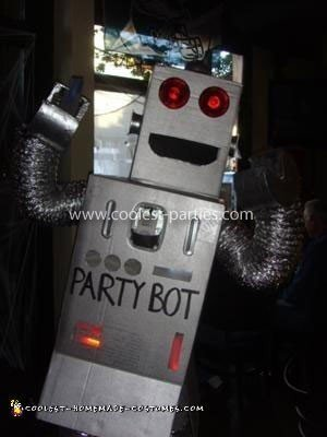 Homemade Partybot Costume