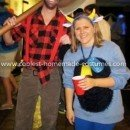 Homemade Paul Bunyan and Babe the Blue Ox Couple Costume