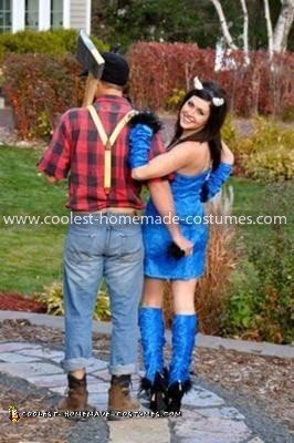 coolest paul bunyan and babe the blue ox couple costume