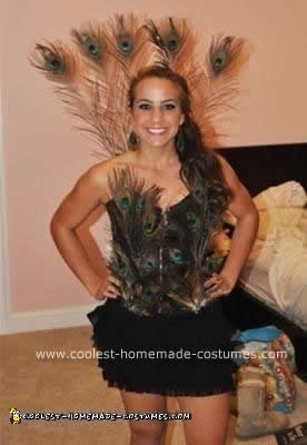 Homemade Peacock DIY Halloween Costume