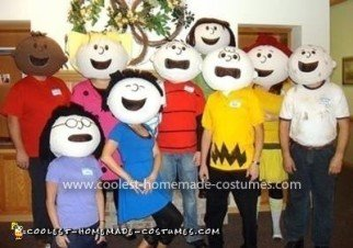 Homemade Peanuts Crew Costume
