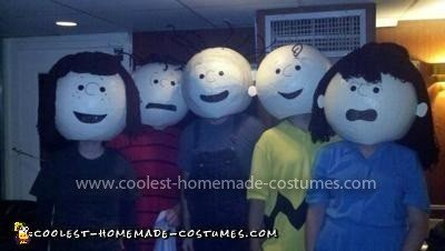 Homemade Peanuts Gang Group Costume